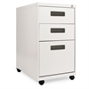 Alera Three-Drawer Metal Pedestal File, 16w x 23-1/4d x 28-1/2h, Light Gray