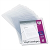 "Avery Top-Load Clear Vinyl Envelopes w/Thumb Notch, 9"" x 12"", Clear, 10/Pack"