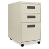 Three-Drawer Metal Pedestal File, 16w x 23-1/4d x 28-1/2h, Putty