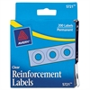 "Avery Dispenser Pack Hole Reinforcements, 1/4"" Dia, Clear, 200/Pack"