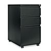 Three-Drawer Metal Pedestal File With Full-Length Pull, 14-7/8w x 23 1/8d, Black