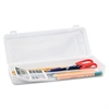 Innovative Storage Designs Stretch Art Box, Polypropylene, Snap Shut, Clear