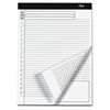 Docket Gold Planning Pad, Ruled, 8 1/2 x 11 3/4, White, 40 Sheets, 4 Pads/Pack