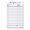 TOPS Employee Time Card, Weekly, 4 1/4 x 6 3/4, 100/Pack