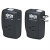 Protect It! Two-Outlet Portable Surge Suppressor, 1050 Joules, Black