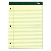 Double Docket Pad, Extra Stiff Back, 8 1/2 x 11 3/4, Canary, 100 Sheets