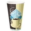 SOLO Cup Company Duo Shield Insulated  Paper Hot Cups, 16 oz, Tuscan Chocolate/Blue/Beige, 525/Ct