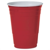 SOLO Cup Company Plastic Party Cold Cups, 16oz, Red, 50/Pack