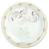 "Symphony Paper Dinnerware, Mediumweight Plate, 6"", Tan, 125/Pack"