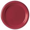 """SOLO Cup Company Plastic Plates, 9"""", Red, 500/Carton"""