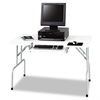 Safco Folding Computer Table, Rectangular, 47 1/2w x 29 3/4d x 28 3/4h, Light Gray