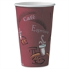 SOLO Cup Company Bistro Design Hot Drink Cups, Paper, 16oz, Maroon, 300/Carton