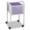 Safco Impromptu Open File Cart, 20-1/4 x 19 x 29-3/4, Silver