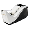 "Scotch Value Desktop Tape Dispenser, Attached 1"" Core, Black/Silver"