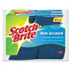 Non-Scratch Multi-Purpose Scrub Sponge, 4 2/5 x 2 3/5, Blue, 6/Pack
