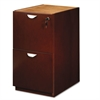 Mayline Mira Series File/File Desk Pedestal, 15w x 28d x 27¾h, Medium Cherry