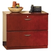 Mayline Mira Series Wood Veneer Two-Drawer Lateral File, 34-1/2 x 24 x 29-1/2, Med Chry