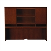 Mayline Sorrento Series Assmbld Hutch w/Wood Doors, 72w x 15d x 52-1/2h, Bourbon Cherry