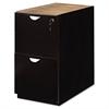 Mayline Mira Series File/File Desk Pedestal, 15w x 28d x 27¾h, Espresso