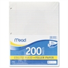 Mead Filler Paper, 15lb, College Rule, 11 x 8 1/2, White, 200 Sheets