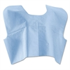 Medline Disposable Patient Capes, 3-Ply T/P/T, 30 in. x 21 in., Blue 100/Carton