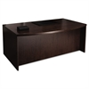 Mira Series Wood Veneer Bow Front Desk, 72w x 42d x 29-1/2h, Espresso