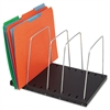 Steelmaster Wire Desktop Organizer, Four Sections, 9 3/4 x 8 1/2 x 7 3/4, Black/Silver