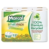 Small Steps 100% Recycled Double Roll Bathroom Tissue, 12 Rolls/Pack, 6 PK/CT