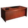 Mayline Mira Series Wood Veneer Bow Front Desk, 72w x 42d x 29-1/2h, Medium Cherry