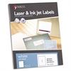 Maco White Laser/Inkjet Full-Sheet Identification Labels, 8 1/2 x 11, White, 100/Box