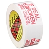 "Scotch Printed Message Box Sealing Tape, 1.88"" x 109yds, 3"" Core, Red/White"