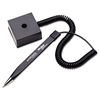 Wedgy Secure Ballpoint Stick Coil Pen with Square Base, Black Ink, Fine