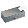 Steel Bond Box with Check Slot, Disc Lock, Gray