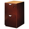 Mira Series File/File Credenza Pedestal, 15w x 22d x 27¾h, Medium Cherry