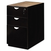 Mira Series Box/Box/File Desk Pedestal, 15w x 28d x 27¾h, Espresso