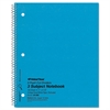 National 3 Subject Wirebound Notebook, College Rule, 11 x 8 7/8, White, 150 Sheets