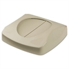 "Rubbermaid Commercial Swing Top Lid for Untouchable Recycling Center, 16"" Square, Beige"