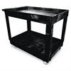 Service/Utility Cart, Two-Shelf, 24w x 40d x 31-1/4h, Black
