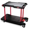 Rubbermaid Commercial Convertible Utility Cart, Two-Shelf, 23-5/8w x 45-1/4d x 34-3/8h, Black