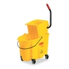Rubbermaid Commercial Wavebrake 26 Quart Side Press Mop Bucket & Wringer Combo, Yellow