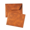 Designer Document Carrier, Expanding, Letter Size, 9 1/2 x 12, Brown