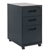 Alera Three-Drawer Metal Pedestal File, 16w x 23-1/4d x 28-1/2h, Black