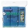 WypAll* Cloths w/Microban, Microfiber, 15 3/4 x 15 3/4, Blue, 24/Carton