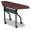 Iceberg OfficeWorks Mobile Training Table, Trapezoid, 48w x 18d x 29h, Mahogany/Black