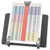 Innovera Book Stand Freestanding Desktop Copyholder, Plastic, Black/Dark Gray