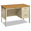 34000 Series Right Pedestal Desk, 45 1/4w x 24d x 29 1/2h, Harvest/Putty