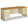 38000 Series Kneespace Credenza, 72w x 24d x 29-1/2h, Harvest/Putty