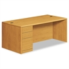 10700 Series Single Pedestal Desk, Full Left Pedestal, 72 x 36 x 29 1/2, Harvest