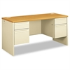 HON 38000 Series Kneespace Credenza, 60w x 24d x 29-1/2h, Harvest/Putty