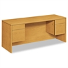 HON 10500 Series Kneespace Credenza With 3/4-Height Pedestals, 72w x 24d, Harvest